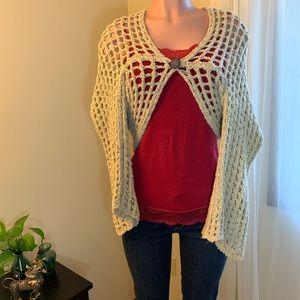Free People crocheted shrug size large